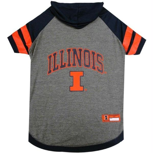 Illinois Fighting Illini Dog Hoodie T-Shirt