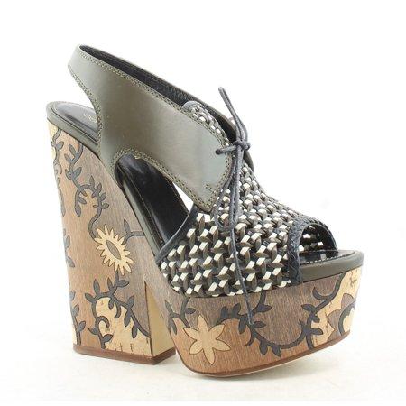Sergio Rossi Womens Atlantiques Brown Sandals EUR