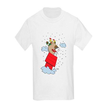 caee946b CafePress - Flying Ace Santa - Kids Light T-Shirt - Walmart.com