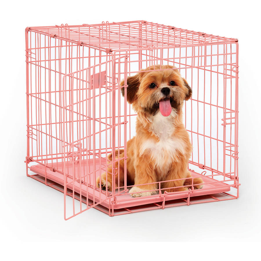 midwest  pink single door icrate dog crate  walmartcom -