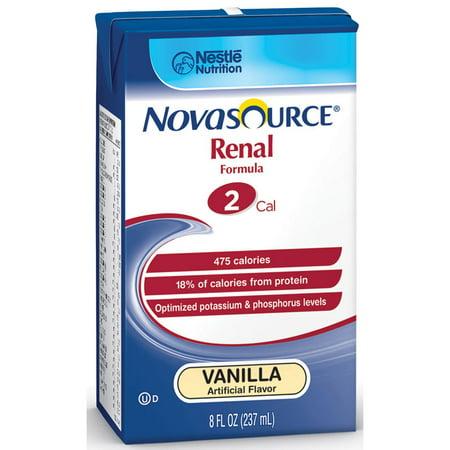Novasource renal nutritional support vanilla flavor liquid 8 oz. brik pak part no. 35110000 (1/ea) ()