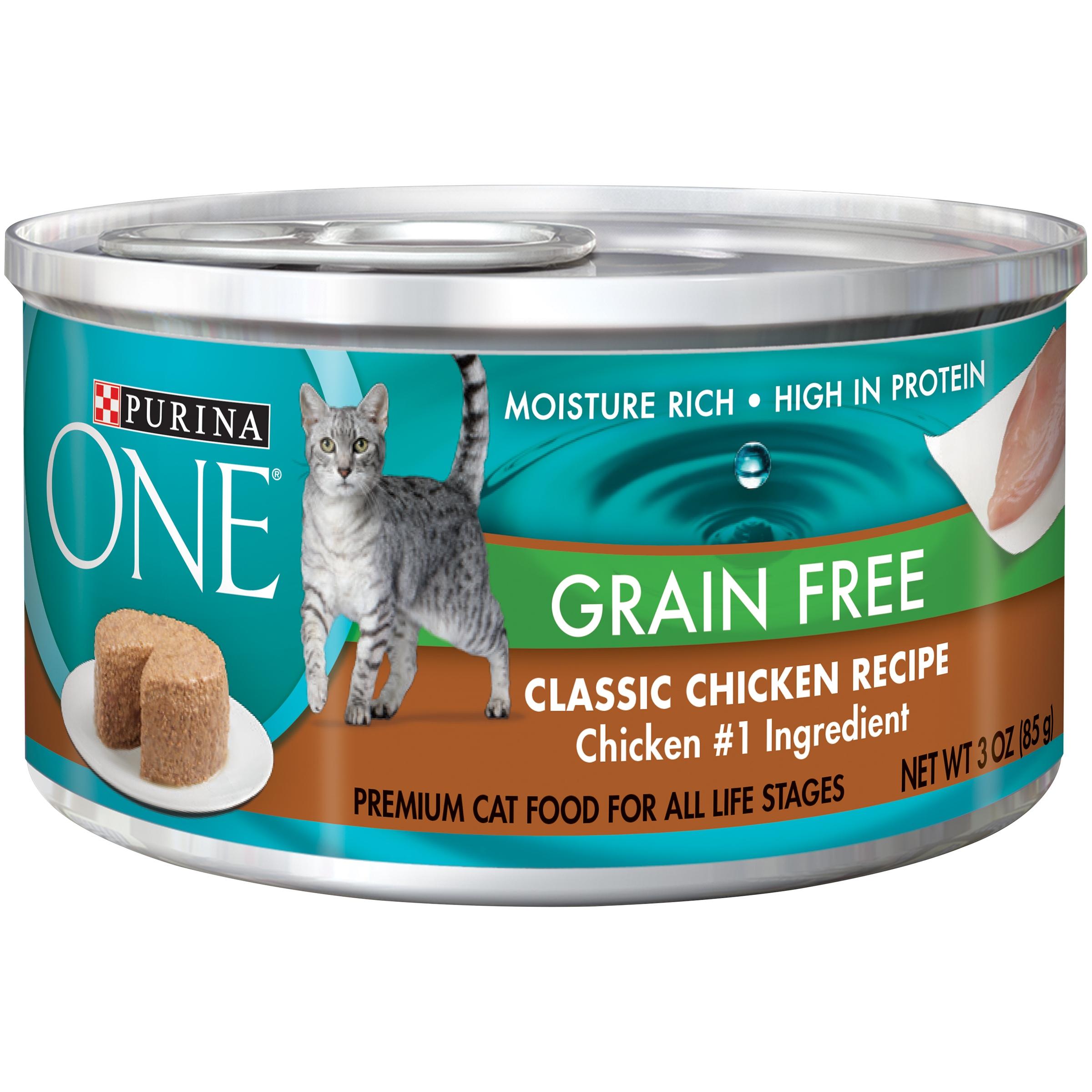 Purina ONE Grain Free Formula Classic Chicken Recipe Premium Pate Cat Food 3