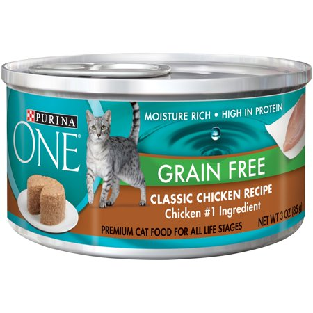 Purina one grain free formula classic chicken recipe premium pate purina one grain free formula classic chicken recipe premium pate cat food 3 oz can forumfinder Gallery