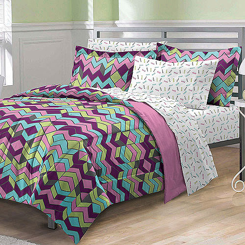 My Room Albuquerque Complete Bed in a Bag Bedding Set, Pink/Multi
