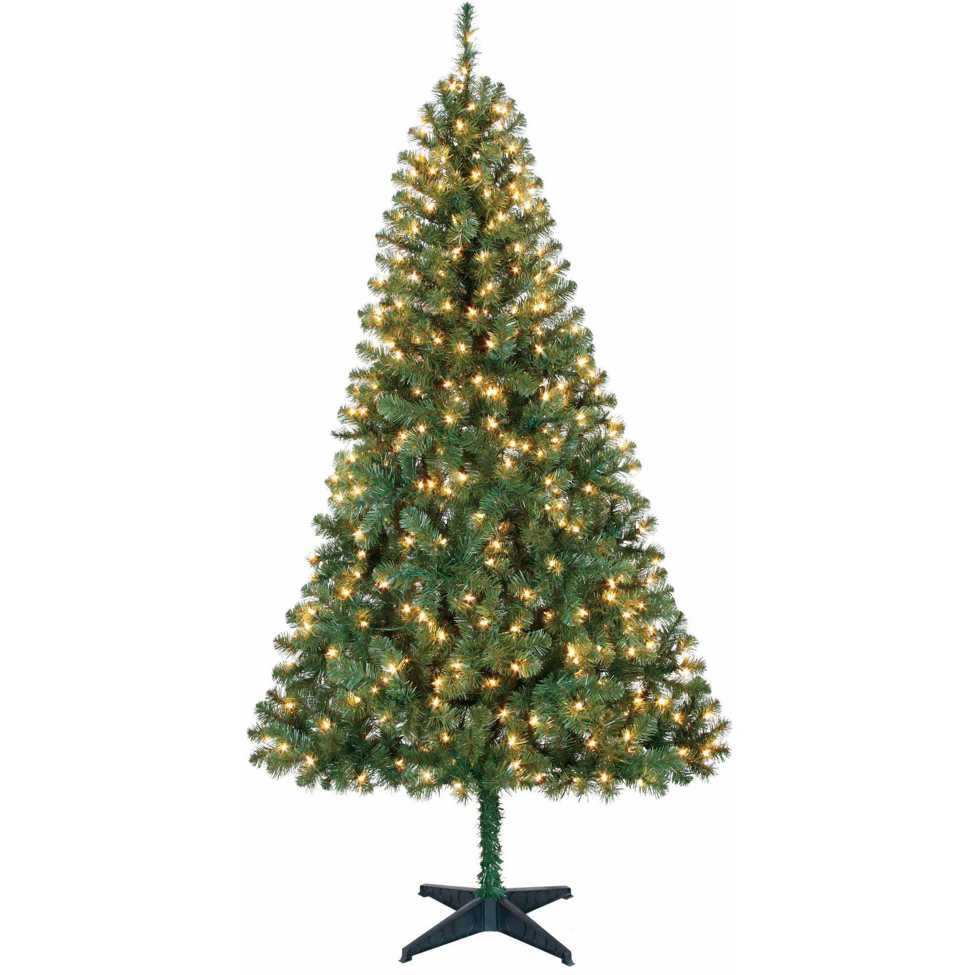 holiday time pre lit 65 madison pine artificial christmas tree greenclear lights walmartcom - Walmart Christmas Tree Prices