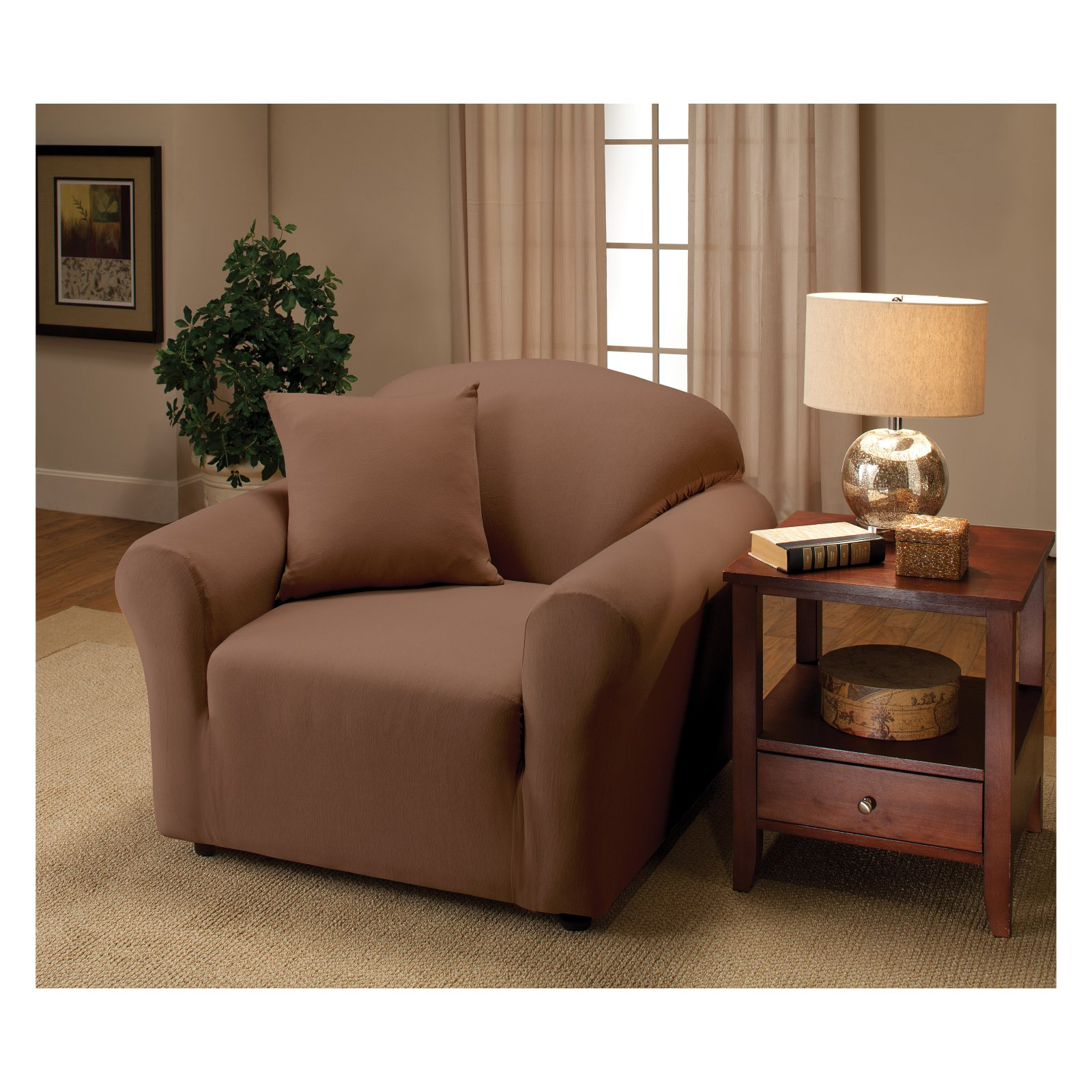 Madison Jersey Stretch Slipcover, Chair by Madison Industries, Inc.