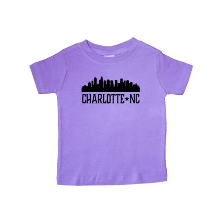 Charlotte North Carolina Skyline NC City Baby T-Shirt - Party City North Carolina
