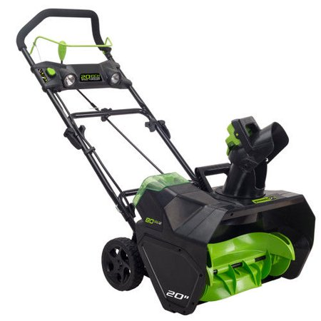 Greenworks Pro 80V Cordless Lithium-Ion 20 in. Snow Thrower, Battery Not Included