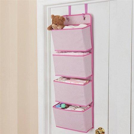 4 pocket over the door wall mount hanging organizer. Black Bedroom Furniture Sets. Home Design Ideas