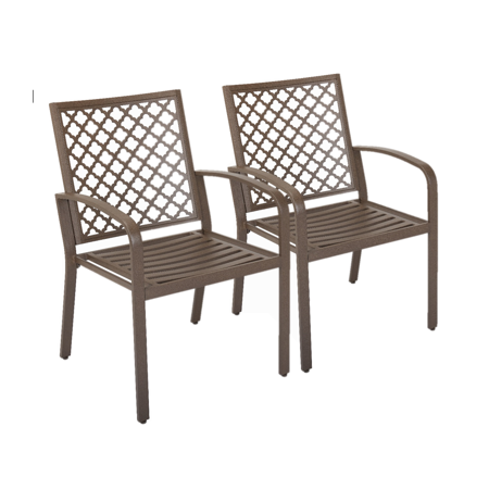 Mainstays Dalloway 2-Piece Patio Stacking Bistro Chair Set