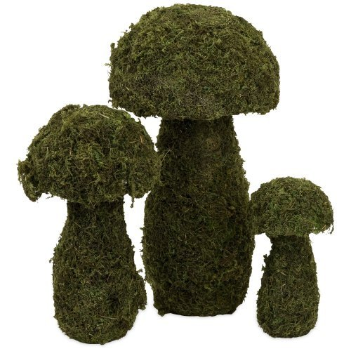 Mossy Mushrooms Topiary - Set of 3