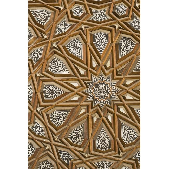Detail of Decorated Door In Rifai Mosque Poster Print, 22 x 34 - Large - image 1 of 1