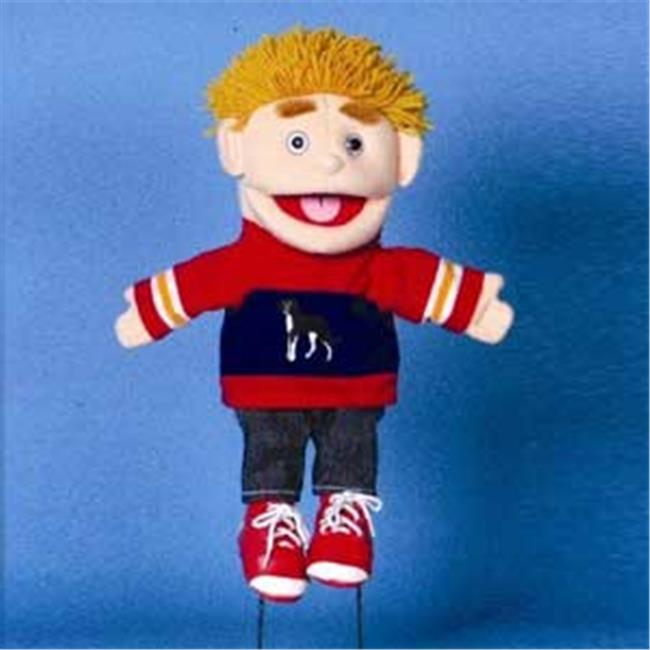 Sunny Toys GL1711 14 inch Blonde-Haired Boy In Red Blue, Glove Puppet