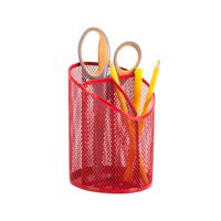 Honey Can Do Angled Pencil Cup with 3 Compartments, Multicolor