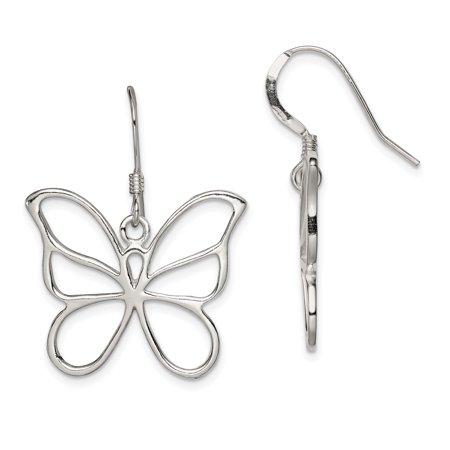 925 Sterling Silver Drop Dangle Chandelier Earrings Animal Butterfly Fine Jewelry Ideal Gifts For Women Gift Set From Heart