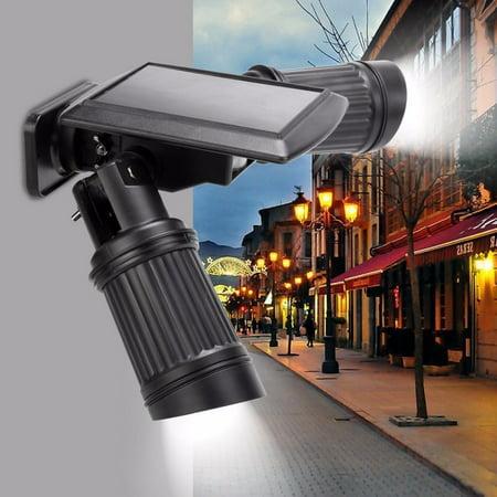 Blue Led Spotlight (Solar Powered Motion Light,LeadingStar Solar Motion Light 14 LEDS PIR Motion Sensor Light Dual-head Outdoor Spotlight Garden)