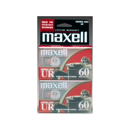 Maxell 109024 Normal Bias 60min Audio Cassette, 2-Pack ()