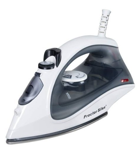 Proctor Silex Clothes Iron - Stainless Steel Sole Plate - White