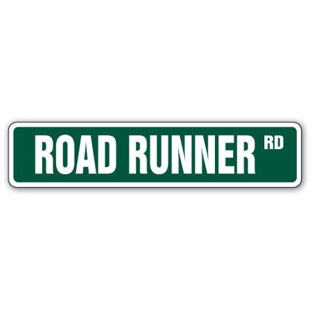 Muscle Car Signs - ROAD RUNNER Street Sign collector hemi muscle car cartoon | Indoor/Outdoor |  24