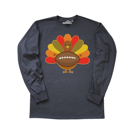 Thanksgiving Day Turkey Football Fan Long Sleeve T-Shirt ()