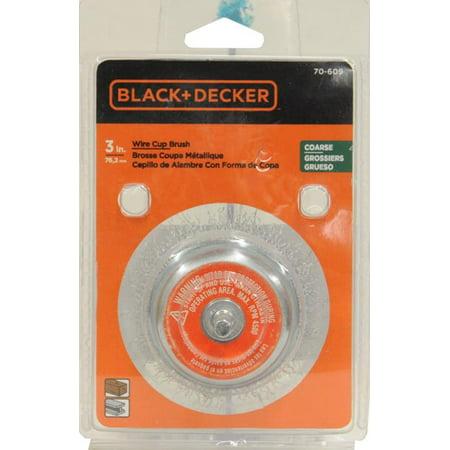 BLACK+DECKER 70-609 3in Coarse Wire Cup Brush