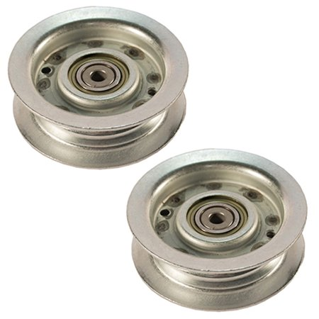 Rotary 2 Pack of Replacement Flat Idler Pulleys For John Deere # 15608-2PK - image 1 of 1
