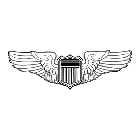 LAMINATED POSTER Drawing of a US Air Force Pilot Wings Poster Print 24 x 36](X Wing Pilot)