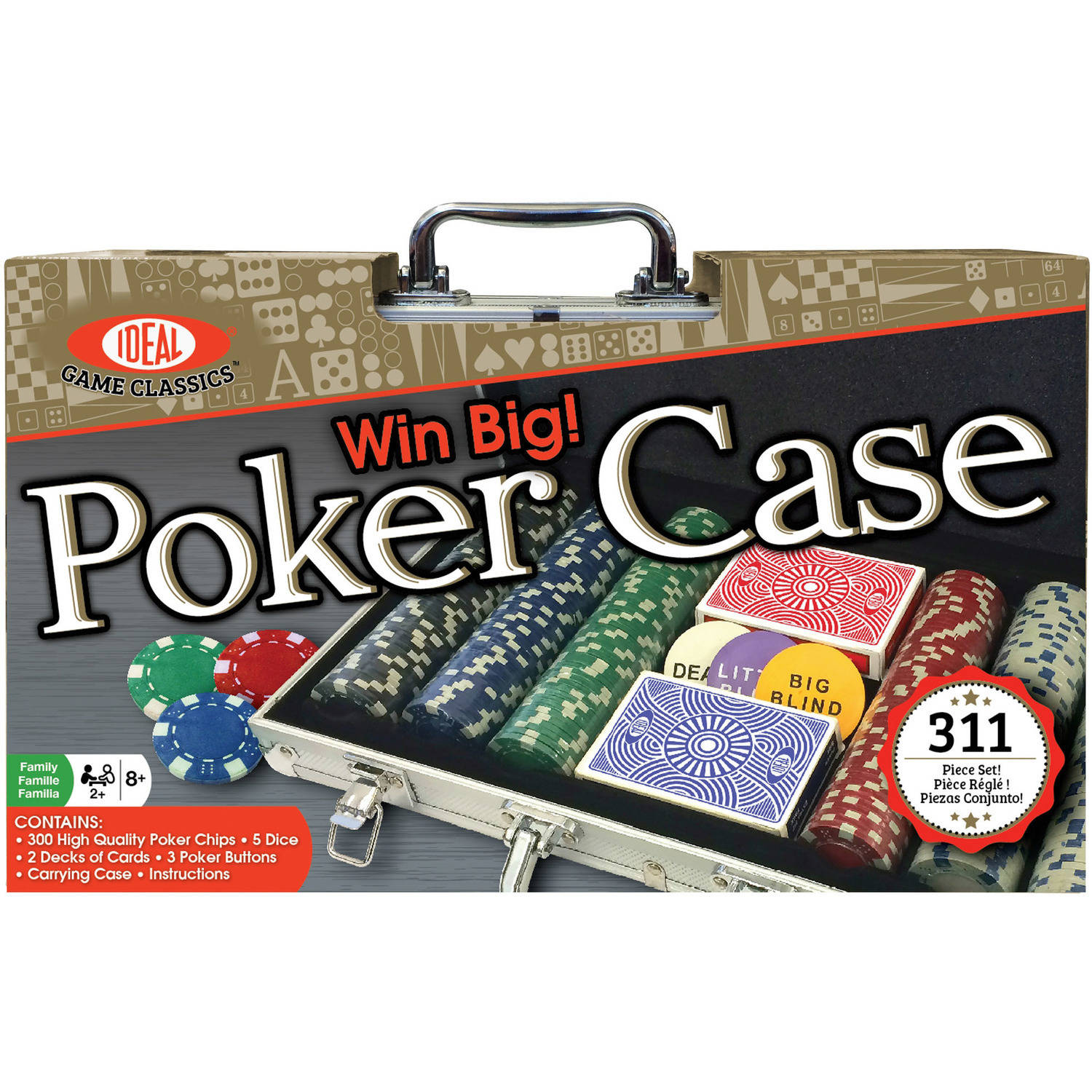 Ideal Win Big! Poker Case – 300 Piece Set