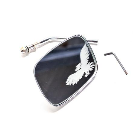 Custom Chrome 28-202 Die Cast Mirror Kit Eagle Etching Harley Davidson QTY 1