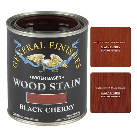 General Finishes Water Based Wood Black Cherry Stain, Quart