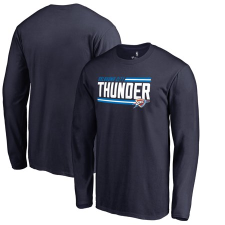 Oklahoma City Thunder Fanatics Branded Onside Stripe Long Sleeve T-Shirt - Navy](Party City Oklahoma City)