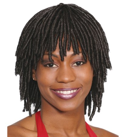 Wigs For Black Women Cheap (Fashion women medium straight Short Dreadlock)