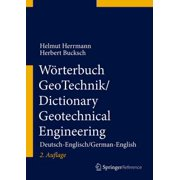 Wörterbuch GeoTechnik/Dictionary Geotechnical Engineering - eBook