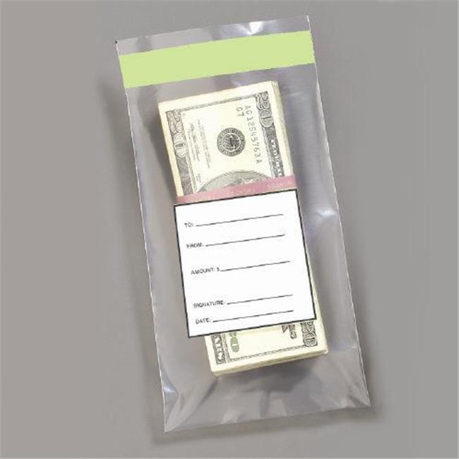 MMF 236006620 Single Wide Strap Bag - 4.5 X 7.5 Inches -  Holds 100 Bills - Packed 1000 Bags Per Box