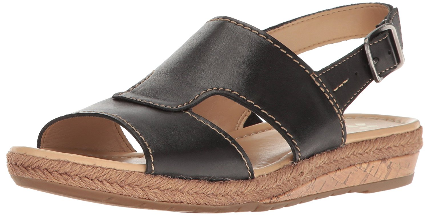 Naturalizer Womens Reese Leather Open Toe Casual Flat Sandals by Naturalizer