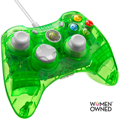 Rock Candy Wired Controller for Xbox 360, Aqualime