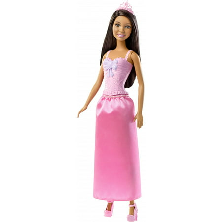 Barbie Princess Doll with Brunette Hair & Shimmery Pink Skirt