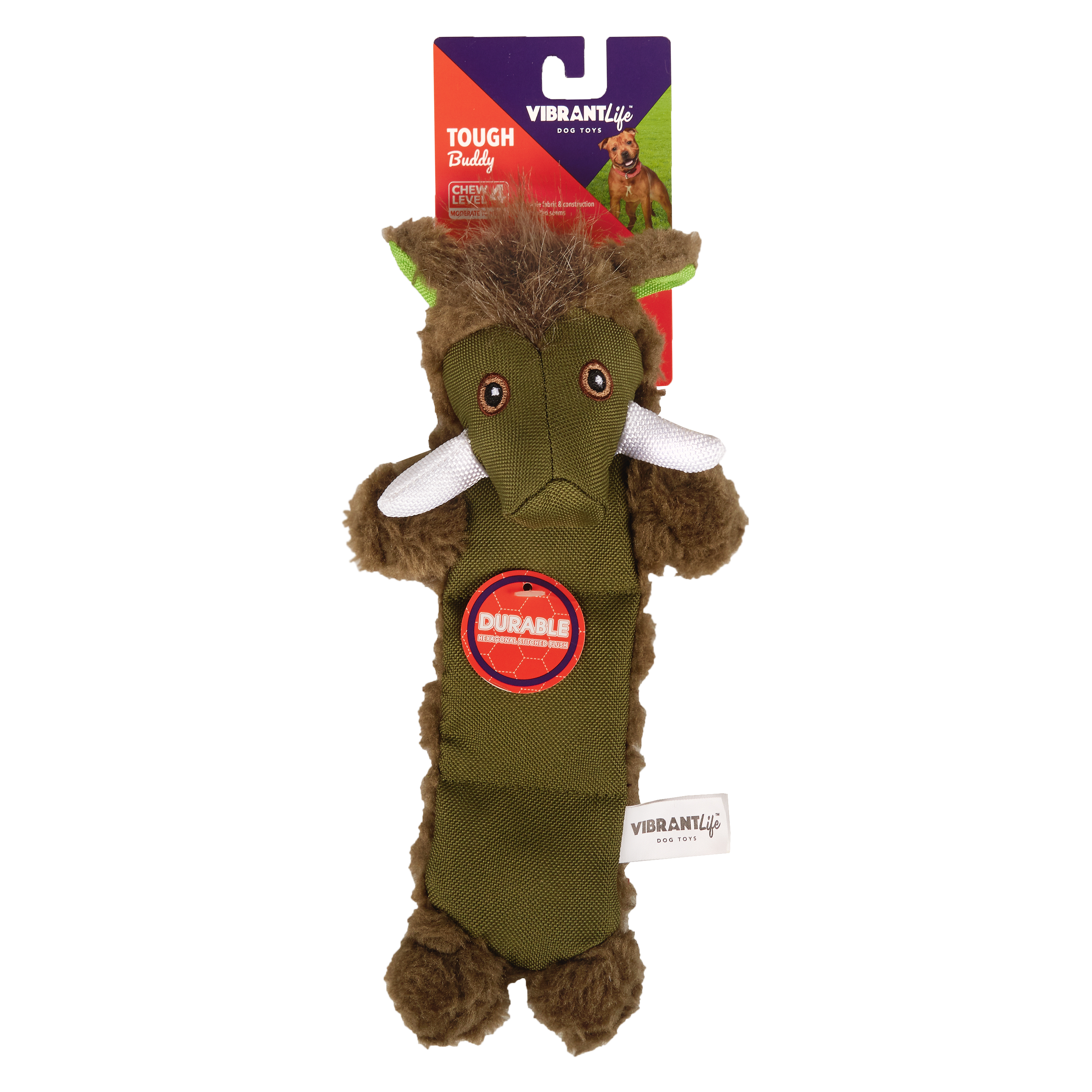 Vibrant Life Tough Buddy Dog Chew Toy, Boar