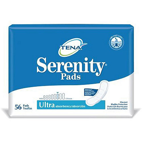 Tena Serenity Bladder Control Pads 13 Inch Length, 84 Count