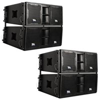 Seismic Audio Four Premium Passive 2x10 Line Array Speakers with Dual Compression Drivers - SALA-210-PKG1