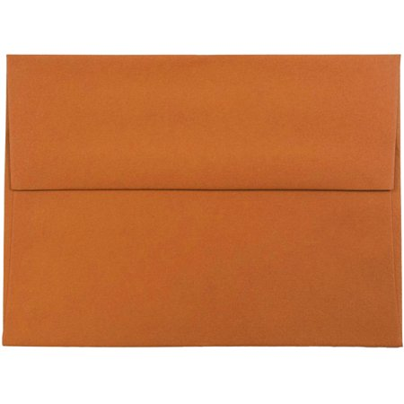 JAM Paper A6 Invitation Envelopes, 4 3/4 x 6 1/2, Dark Orange, 50/pack