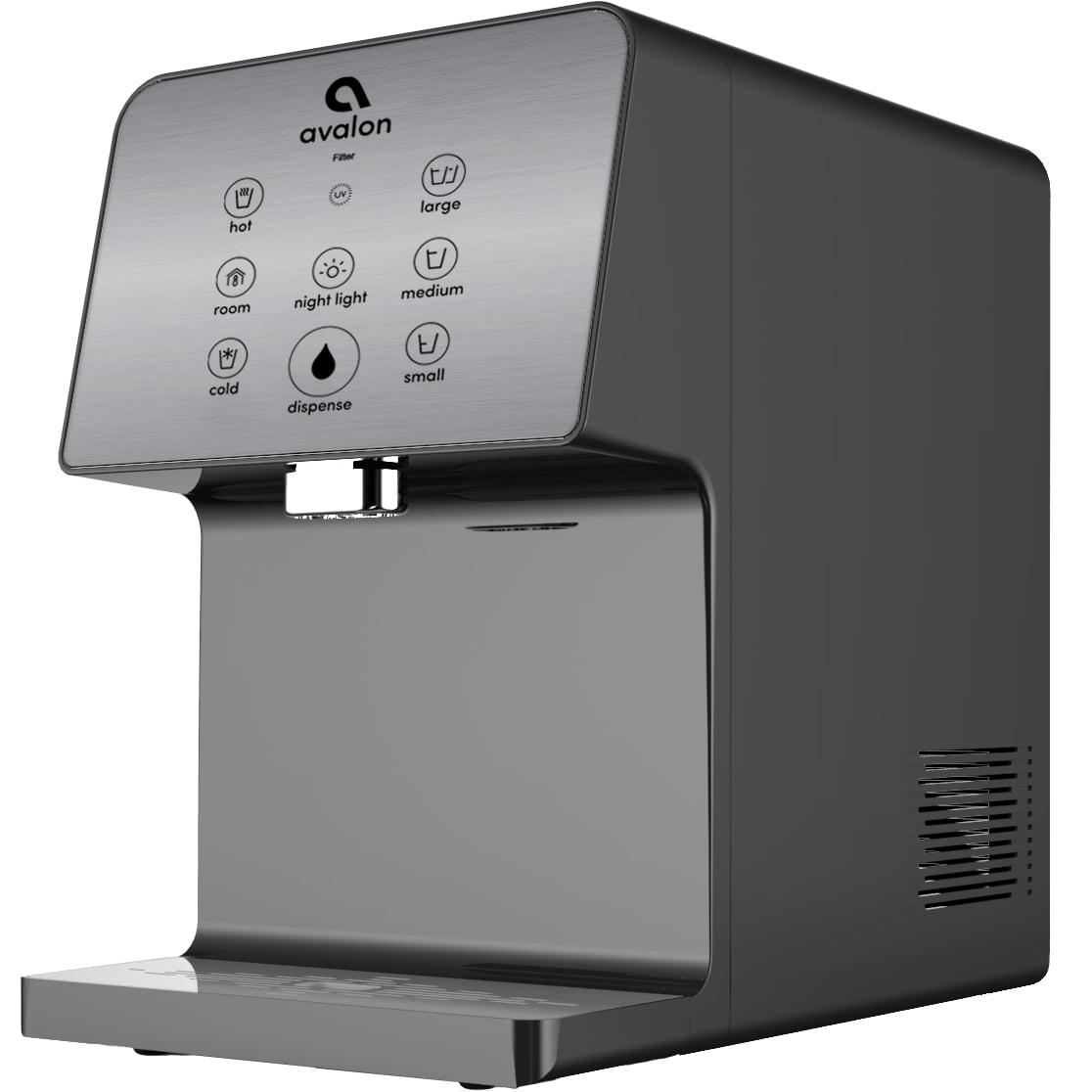Avalon Electric Countertop Bottleless Water Cooler Water Dispenser, 3 Temperatures, UV Cleaning, 3 Dispensing Volumes- Grey
