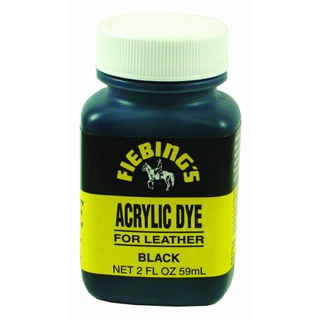 Fiebing's Acrylic Leather Dye Flexible Leather Paint, 2 oz Blue 2 Oz Americana Paint