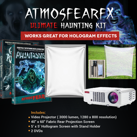 halloween atmosfearfx ghostly apparitions and phantasms dvd video projector kit 3000 lumen projector with 1200