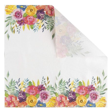 Floral Paper Napkins 100 Pack Disposable Tea Party Napkins Weddings Bridal Shower Party Supplies 2 Ply Vintage Blooms Flower Decoupage Luncheon Size Folded 6 5 X 6 5 Inches Walmart Canada