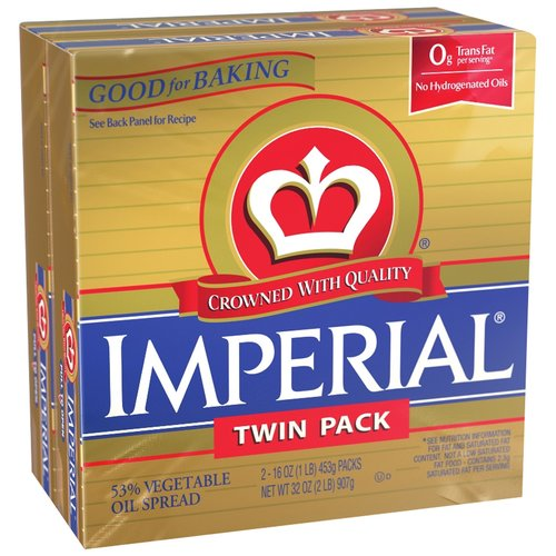 Imperial 53% Vegetable Oil Spread, 16 oz, 2 ct