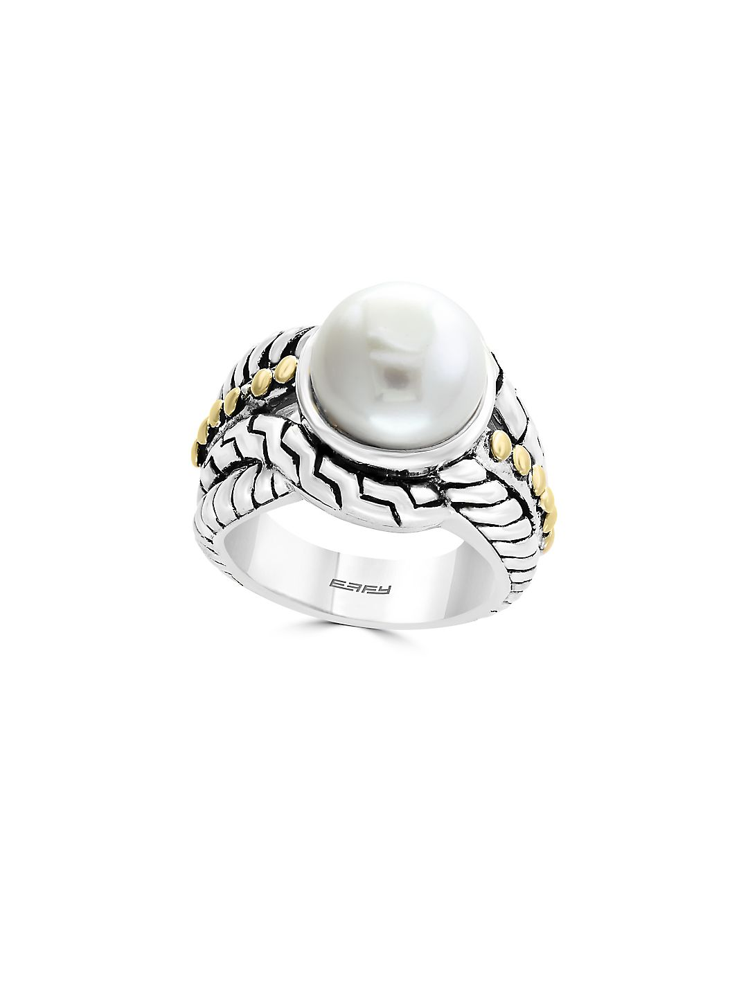 11MM Freshwater Pearl and Sterling Silver Ring
