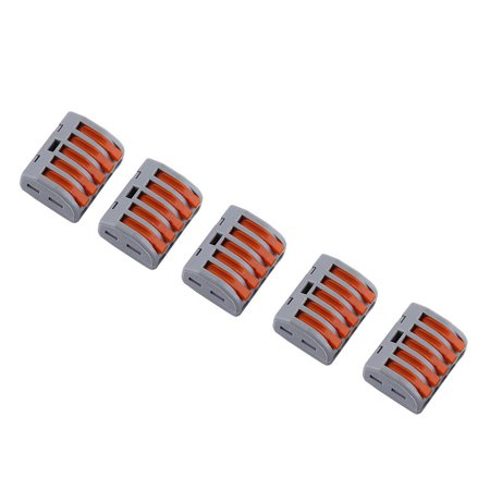 20pcs 2/3/5 Way Reusable Spring Lever Terminal Block Electric Cable