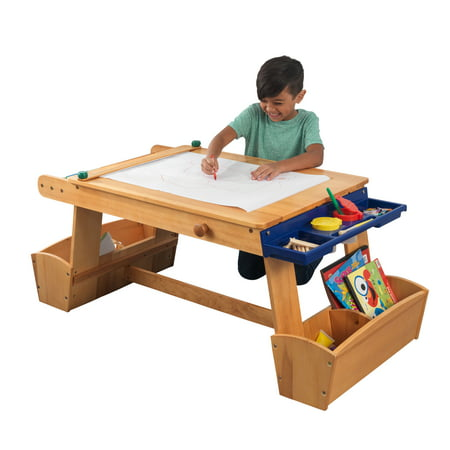 KidKraft Art Table with Drying Rack & Storage - Arts And Craft Stores