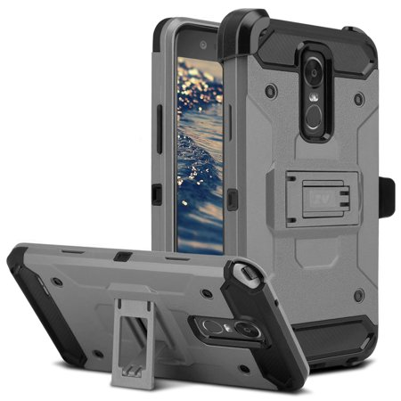 online retailer cf983 7316a LG Stylo 3 Case, Zizo Tough Armor Cover w/ [Heavy Duty Kickstand] Holster  Clip [Shockproof Dual Layer Case] Strong Protective Slim - LG Stylo 3 Plus